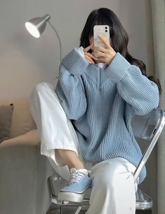 Ulzzang Fashion, Hijab Fashion, Fashion Outfits, Cute Casual Outfits, Pretty Outfits, Casual School Outfits, Trendy Summer Outfits, Korean Girl Photo, Korean Street Fashion