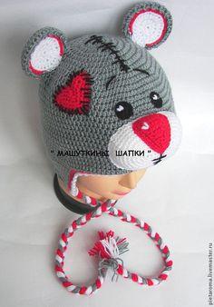 Картинки по запросу детская шапочка мишка тедди крючком