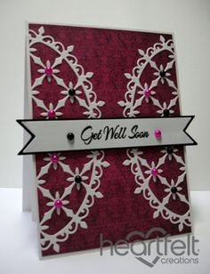 Heartfelt Creations | Get Well Decorative Oval