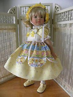 "Easter Dress Pinafore for 13"" Dianna Effner Little Darlings JL Productions | eBay. Ends 4/2/14"