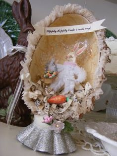 Easter egg shadow boxes