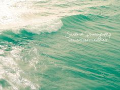 ocean photography blue teal turquoise aqua by SouvenirPhotography, $10.00