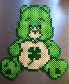 sandylandya@outlook.es  Green Care Bear hama perler beads by Sonja Ahacarne