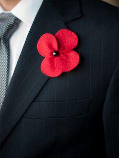felt flower boutonniere 275x366 Inspiration: Non Floral Boutonnieres