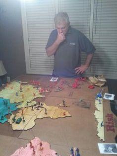 Custom made Risk board game