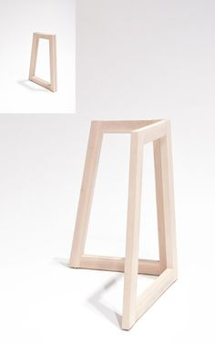 1RDesign : Pieds de table pliable design TWIN Folding Furniture, Smart Furniture, Space Saving Furniture, Wooden Wall Decor, Wooden Walls, Table Design Bois, Wall Desk, Table Seating, Table Legs