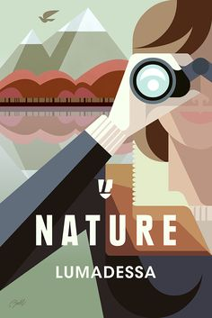 Here's to the wanderers of the wild, wherever they may be now or wherever  they are on the path of discovery. A new travel poster by Josh Brill pays  homage to nature and those who find inspiration in it.