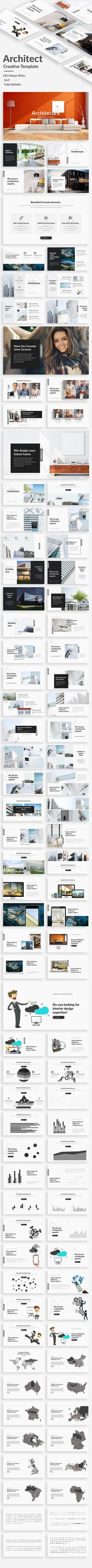 Architecture and Interior Design Powerpoint Template