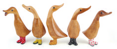 DCUK Wooden Ducks with wellies