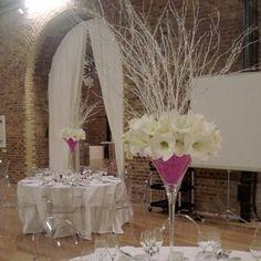 martini glass wedding centerpiece | Tall Martini Glass - Reception Centerpieces