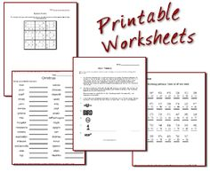 Free Math Worksheets.  This is sweet.  You can customize your own worksheets.  They also have worksheets you can make for telling time, counting money and lots of others.