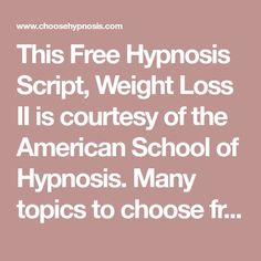 29 Best Hypnosis Scripts images in 2018 | Hypnosis scripts