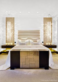 More Kelly Hoppen | Luxe bedroom Inspirations see more: Today is @kellyhoppenldn day for World Best Interior Designers. See more: http://www.brabbu.com/en/inspiration-and-ideas/