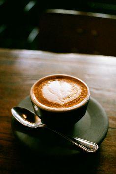 Four Barrel Coffee Machiatto - photography inside the cafe