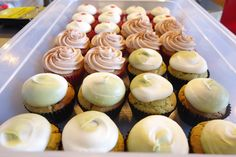 Cupcakes by We The Minis. From Front: Matcha Green Tea, Churro & Red Velvet.
