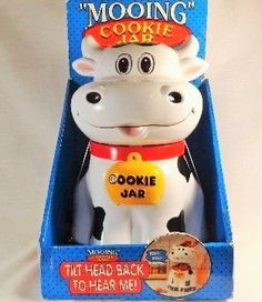 Hey, I found this really awesome Etsy listing at https://www.etsy.com/listing/222436543/cookie-jar-cow-mooing-plastic-cow-with