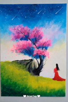 Landscape Painting Collections Painting Tutorial Videos Part 10 10 Romantic Rustic Landscape Painting Collections Painting Tutorial Videos Part 10 Are you looking. Dance Paintings, Nature Paintings, Landscape Paintings, Beautiful Paintings, Easy Canvas Painting, Painting Workshop, Painting Videos, Flower Crafts, Easy Drawings