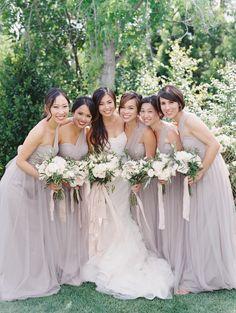 Photography: esther sun photography esthersunphoto.com Wedding Dress: Vera Wang verawang.com Floral Design: Moments In Bloom http://momentsinbloom.com Bridesmaids' Dresses: Jenny Yoo Jennyyoo.com View more: http://stylemepretty.com/vault/gallery/38763