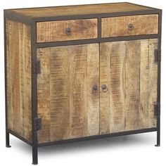 Industrial Reclaimed Wood and Iron Sideboard Cabinet (India) - Overstock™ Shopping - The Best Prices on Bar Storage