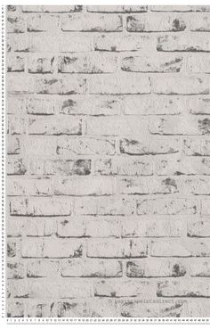 Papier peint briques blanches et grises Textured Brick Wallpaper, Wood Wallpaper, Geek Room, Bedding Inspiration, Grey Brick, Basement Remodeling, My New Room, Textures Patterns, Tapestry