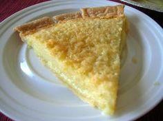 Buttermilk pie, a family favorite.  My recipe also adds 2 tsp. fresh lemon juice.