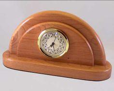 wood clock | ... & Custom Handcrafted Wooden Desk Clocks - Cherry 'Dome' desk clock