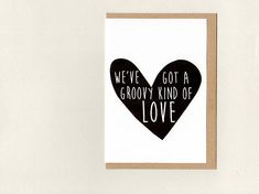 We'Ve GoT a GrooVY KiND oF LoVe . Funny Anniversary Cards, Valentine's Day, Epson Ink, Paper Packaging, Paper Envelopes, Love Cards, Wedding Engagement, Wedding Cards, Paisley