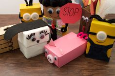 Help your kids snap, crackle, and pop their way to happy as they construct characters and creatures out of mini cereal boxes. These puppets are just the right size for tiny hands!