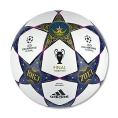 Today adidas unveiled the official match ball to commemorate the UEFA Champions League Final 2013 taking place at Wembley Stadium on May. Football Kits, Football Match, Soccer Gear, Soccer Ball, Soccer Stuff, Camisa Arsenal, Final Da Champions League, Champions League, Finals