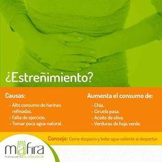 Con una buena alimentación puedes evitar el estreñimiento, #Mafira ayuda a tu cuerpo a acelerar su metabolismo única y exclusivamente a través de la alimentación.