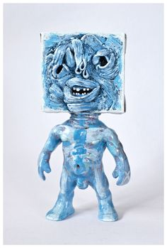 Johnny Paint me Motherfucker customized by Emilio Subirá  (unique art piece)  Poliurethane resin and polymer clay 17cms tall toy sculpture.  Hand painted and barnish by the artist at his studio in Seville, Spain.  Is one of a kind. signed and dated.