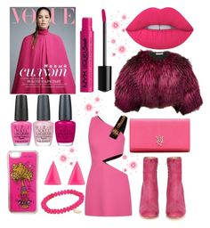 """""""2017: The New Year"""" by mandimwpink ❤ liked on Polyvore featuring Betsey Johnson, FAUSTO PUGLISI, Lime Crime, Oscar de la Renta, OPI, NYX, Alexander McQueen, Sydney Evan, Alexis Bittar and Maryam Nassir Zadeh"""
