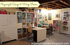 Organizing for Six: My Organized Scrap & Wrap Room