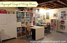 Organizing for Six: My Organized Scrap & Wrap Room