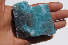 Larimar Slab, Original And Genuine Dominican Solid Marbled Free Shape Larimar Slab Collection Jewelry by DominicanArts on Etsy