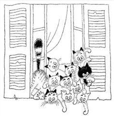 Kotki przez okno www.livingart.pl figurka