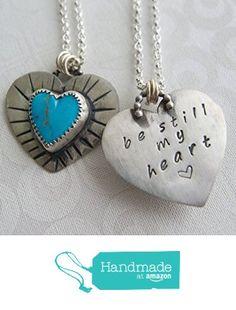 Silver Turquoise Heart Pendant, Be Still My Heart Necklace, Taken Jewelry from Radiant Jewel Studio https://www.amazon.com/dp/B01FCI4RKS/ref=hnd_sw_r_pi_dp_NIMqxb8F4C4VF #handmadeatamazon