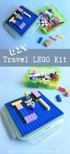 DIY Travel LEGO Kit! Makes an awesome toy to take along in the car or to give as a kids LEGO party favor! #DIYtravellegokit #DIYlegokit #legokit #travellego #kidspartyfavor #Legopartyfavor #partyfavors #DIYlegopartyfavors #travellegokit #legotravelkit #lego
