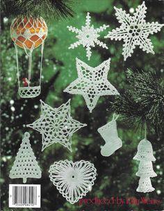 Vintage Christmas Ornaments and Snowflakes by BijouxVintagedeZap