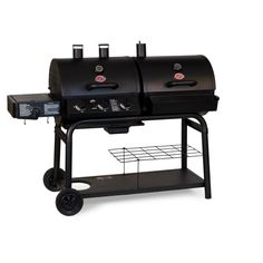 Char-Griller 5050 Duo Gas-and-Charcoal Grill Every grill lover's dream! Charcoal and gas grilling all in one grill! The Char-Griller Duo provides sq.