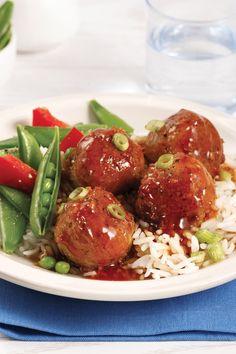 Des boulettes végé pour souper, c'est gagnant sur toute la ligne! Foodies, Ethnic Recipes, Tofu Meatballs, Hawaiian Chicken, Suppers, Mushroom, Fishing Line