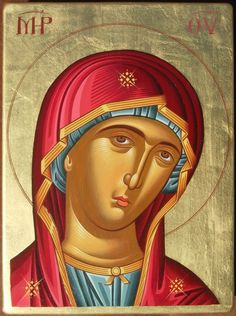 Panagia by logIcon on DeviantArt Religious Icons, Religious Art, Writing Icon, Famous Freemasons, Religious Paintings, Blessed Mother Mary, Byzantine Icons, Early Christian, Catholic Art