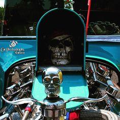 In the spirit of the season.  1923 Ford T Bucket #23tbucket #23ford #23hotrod #hotrod #metal #halloween #carshows #skulls #carphotographybyjjgarcia