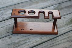 Shaving Stand for 2 Straight Razors Safety by JustABranchWoodworks