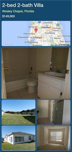 2-bed 2-bath Villa in Wesley Chapel, Florida ►$149,900 #PropertyForSaleFlorida http://florida-magic.com/properties/68339-villa-for-sale-in-wesley-chapel-florida-with-2-bedroom-2-bathroom