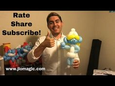 Smurfette balloon - tutorial - YouTube