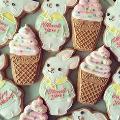 white bunny sugar cookies♡