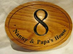 130x300x12mm 5 1/4x12x1/2 Oak Wood Dogs Kennel Sign / by SignaRoo