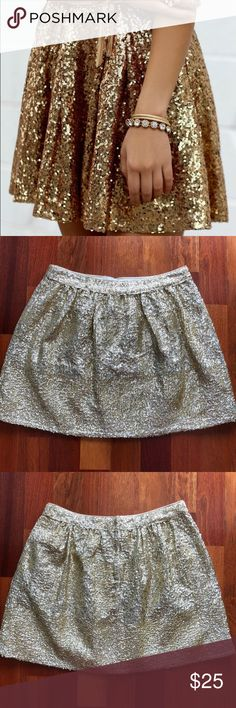 NWT Gold Sequin Mini Skirt - Size 4 NWT H&M Gold Sequin Mini Skirt - Size 4. Great party skirt. Center back zip opening. H&M Skirts Mini