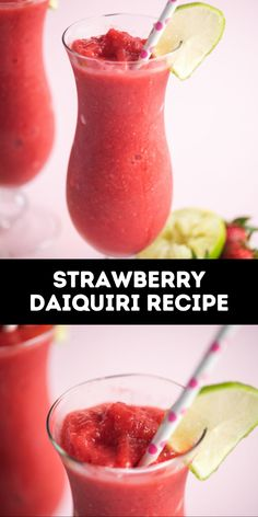 Strawberry daiquiris are the classic summertime cocktail you'll be blending up on repeat. No need to go to a beachside bar to treat yourself to a taste of vacation right at home with our easy frozen drink recipe. #drinks #cocktail #summer #recipe Easy Frozen Drink Recipe, Strawberry Daiquiri Recipe, A Food, Good Food, Refreshing Cocktails, Best Comfort Food, Frozen Drinks, Recipe Community, World Recipes